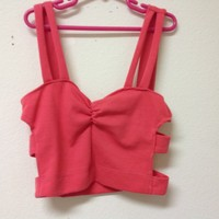"""Side Caged"" Pink Bustier"