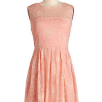 ModCloth Mid-length Sleeveless A-line Crisp Morning Air Dress in Pink