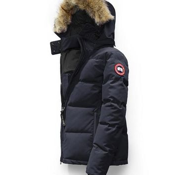 CANADA GOOSE winter women chelsea parka jacket/Navy blue
