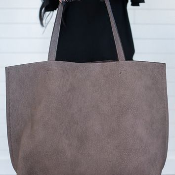 Flip the Switch Tote - Dark Taupe