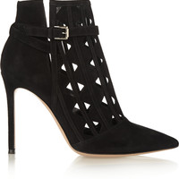 Gianvito Rossi - Cutout suede ankle boots