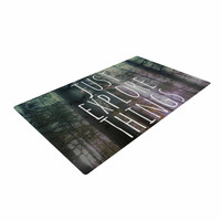 "Alison Coxon ""Just Explore Things"" Green Photography Woven Area Rug"