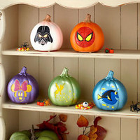 Kid's Disney LED Lighted Pumpkin Choose Favorite Character Fall Fun Home Decor