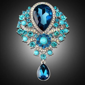 DKJN6 Rhinestone alloy brooch female