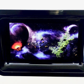 Colorful Metal Rolling Tray - Outer Space