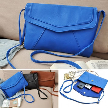Fashion Women Messenger Bag PU Leather Cross Satchel Shoulder Handbag