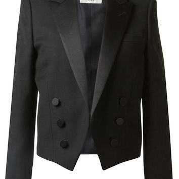 Saint Laurent Open Front Tuxedo Jacket