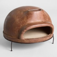Extra Large Brown Terracotta Pizza Oven