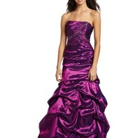 Jump Juniors Asymmetrical Beaded Ballgown
