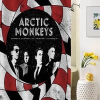 arctic monkey cover shower curtain special custom shower curtains that will make your bathroom adorable