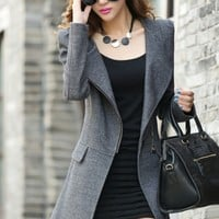 Graceful Woolen Coat - OASAP.com