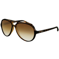 Ray-Ban RB 4125 710-51 59 Unisex Cats 5000 Light Havana Brown Frame Crystal Brown Gradient Lens Sunglass