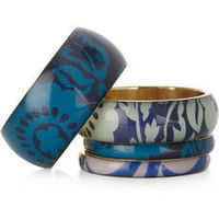 Antik Batik | Saba set of four resin and brass bangles | NET-A-PORTER.COM