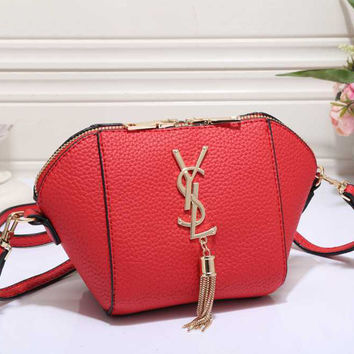 YSL Women Shopping Leather Crossbody Satchel Shoulder Bag