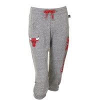 Chicago Bulls Ladies Warm Up Capri Pants - Gray