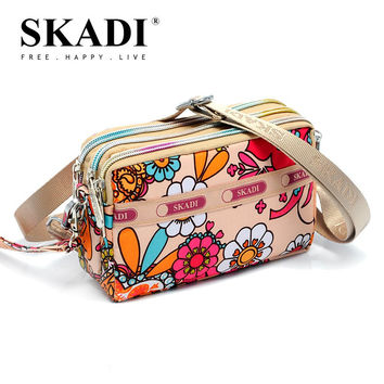 SKADI Sweet Coin Purses Long Wallets Lady Coin Purses Flower Clutch Wallets Money Bags Zippers Cartoon High quality Oxford S003