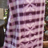 man's sarong 2 tone purple check MA8