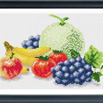 Cross Stitch Pattern, Cross Stitch Patterns, Cross Stitch, Counted Cross Stitch, Cross Stitch Chart, Xstitchpatterns, Cross Stitch Fruit