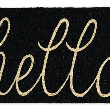Autumn Fall welcome door mat doormat Hello hello Entry Way Outdoor  with Non Slip Backing AT_76_7