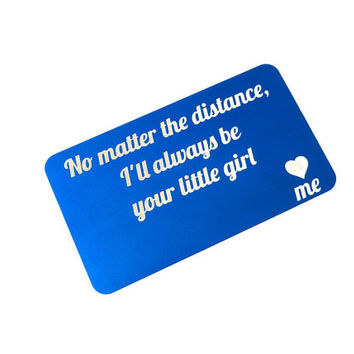 Custom Wallet Insert Personalized Wallet Card Laser Etched Wallet Insert Engraved Love Note Gift for Him Gift for Her Anniversary Gift