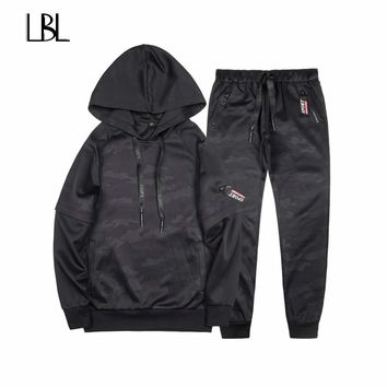 Two Piece Set Tracksuit Men Brand Clothing Sudadera Hombre 2018 Fashion Spring Autumn Men Sporting Suit Hoodies+Pant Sweatsuit