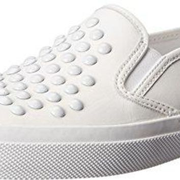 Coach Women's Chrissy Rivets Nappa Leather Sneaker, White