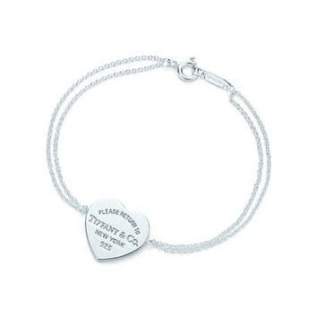 Tiffany & Co. - Return to Tiffany™ heart tag bracelet in sterling silver, small.