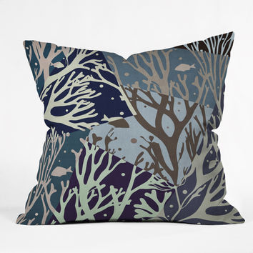 Belle13 The Ocean Outdoor Throw Pillow