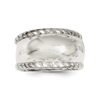 Sterling Silver Twisted Dome Ring