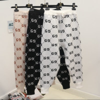 GUCCI new autumn and winter fashion loose thick g letter pants harem pants