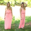 Slip Into Summer Maxi in Peach