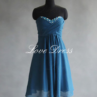 Simple chiffon prom dress, homecoming dress, bridesmaid dress