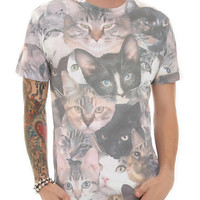 Cat Collage Slim-Fit T-Shirt | Hot Topic