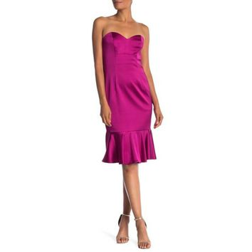 Trina Turk Greer Sweetheart Peplum Hem Dress, Size 6