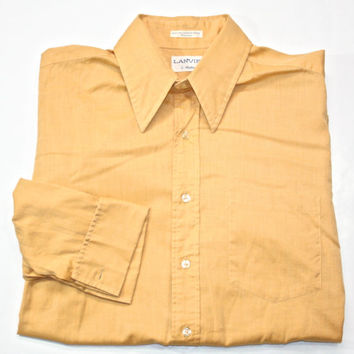 Vintage Lanvin French Cuff Mens Dress Shirt Mens Size Medium