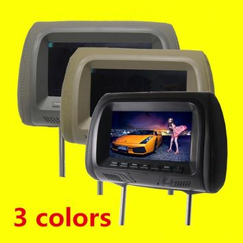1PCs Universal 7 inch Car headrest monitor display LCD color monitor display Car Pillow monitor car styling Quality Asssured