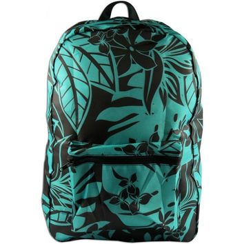 Turquoise Tropical Foldable Backpack