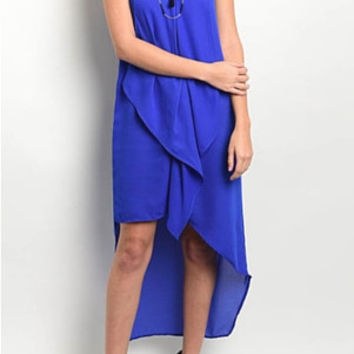 Free Flow Dress- Electric Blue