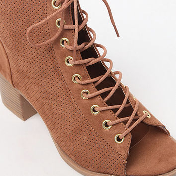 Qupid Dixie Lace-Up Booties at PacSun.com