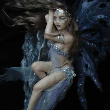 SHADOWSCULPT OOAK FAIRY commission one of a kind sculpture art doll fantasy figurine made to order