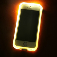 Fashion New Luxury LED Light Selfie with USB cable Phone Case for iphone 6 Luminous Phone back Cover for i6 Case