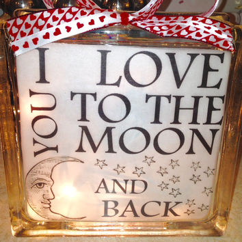Personal Quotes or Sayings Lighted Glass Blocks and Home Glass Decor and Gifts