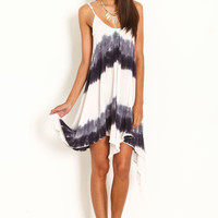 DIP DYE SCOOPBACK DRESS