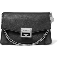 Givenchy - GV3 small textured-leather shoulder bag