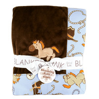 Trend Lab - Receiving Blanket - Framed Cowboy Baby