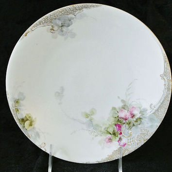 1900s Limoges Plate Porcelain Jean Pouyat Limoges France JPL Antique Victorian Porcelain Plate Artist Signed Art Paint French Hand painted