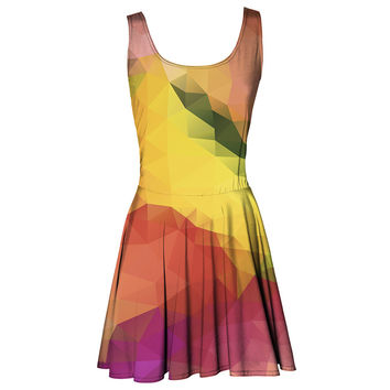 Colorful Geometric circle dress