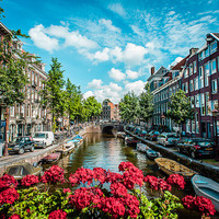 Canal, Amsterdam, Color Photography, Color Photography, Urban, Europe, Cityscape, Home Decor, Fine Art Photography, Art, Travel Photography