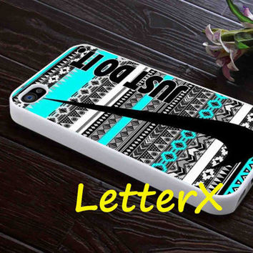 Nike Just Do It Aztec Mint Case for iPhone 4/4S/5/5S/5C, Samsung Galaxy S3/S4, iPod touch 4/5, htc One x/x+/S