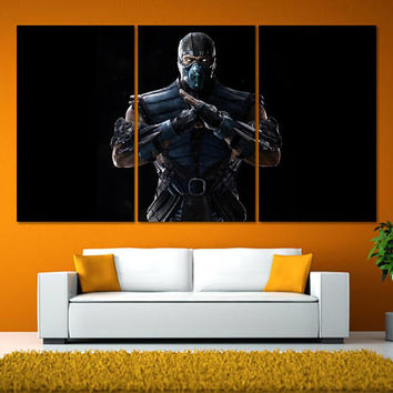 Mortal Kombat Wall Art, Mortal Kombat Poster, Video Game Room Art, Video Game Posters, Video Game Art Print, Mortal Kombat Artwork LC102
